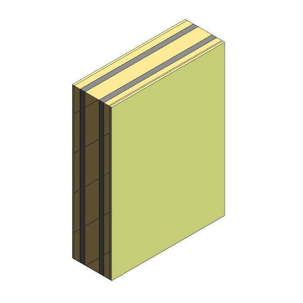 Pared separadora 1B LHGF 5 cm +