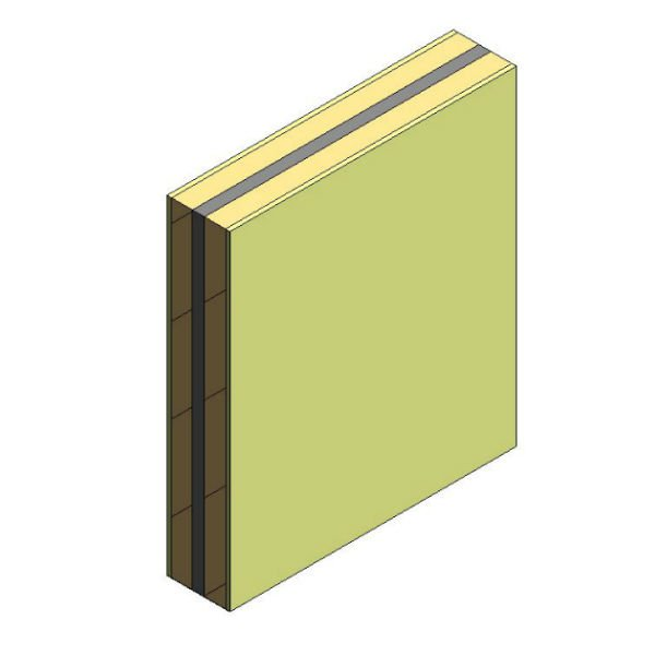 Pared separadora 2A LHGF 7cm + L