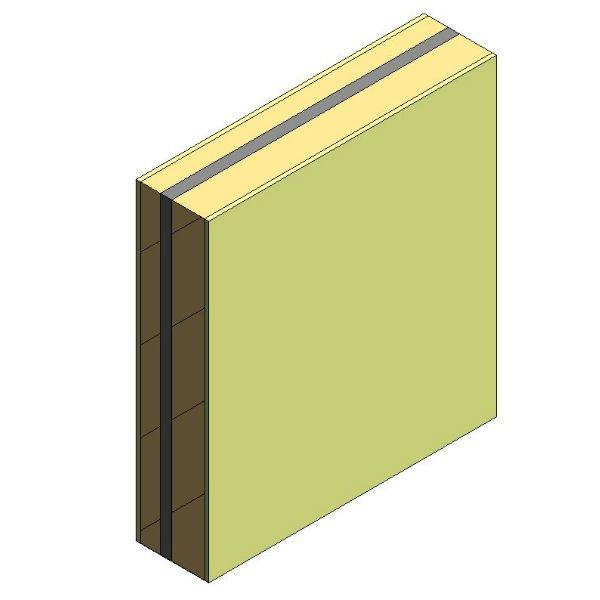 Pared separadora 2B LP 11,5cm +