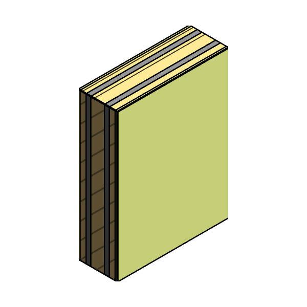 Pared separadora 1B LHPF 5 cm +