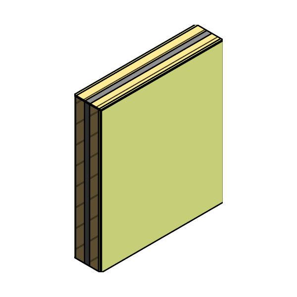 Pared separadora 2A LHPF 7cm + L