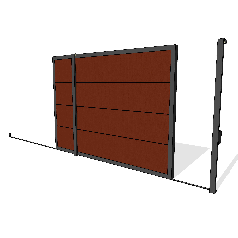 Puerta garaje corredera lateral puertas de garaje for Puertas corredizas revit