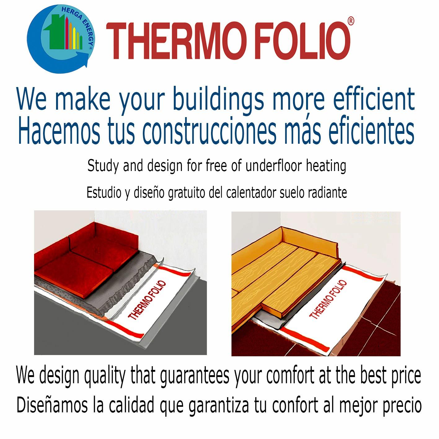Suelo radiante continuo el ctrico thermo folio herga energy senal - Folio radiante electrico ...