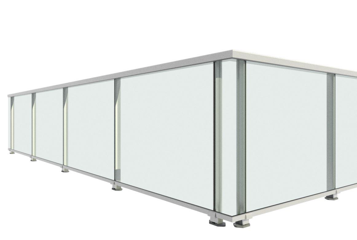 Barandilla aluminio anclaje a pavimento serie unica mod - Barandilla de aluminio ...