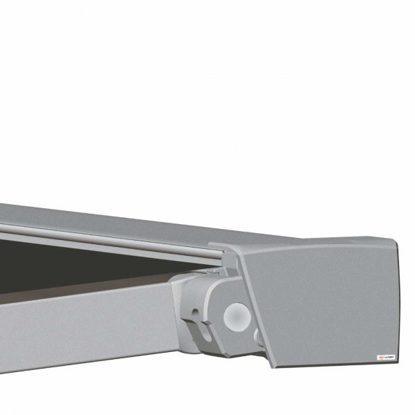 Cassette awning with retractable