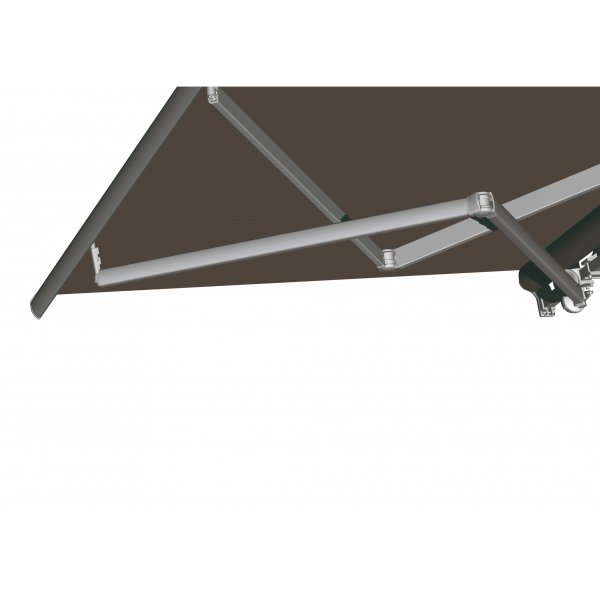 Awning with retractable arms wit