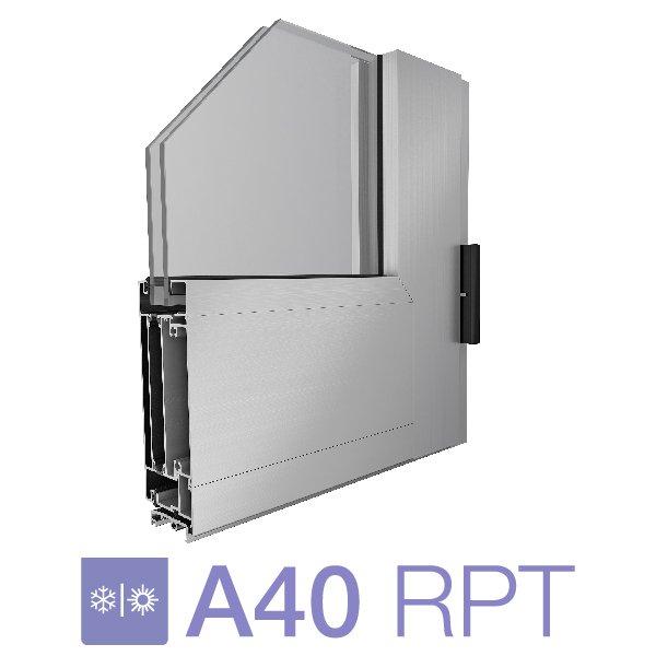 Puerta de rebatir 1 hoja A40 RP