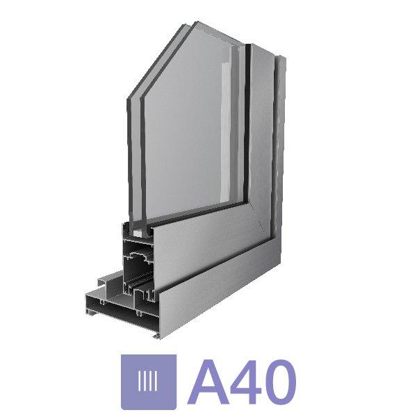 Puerta A40 corrediza de dos hoj