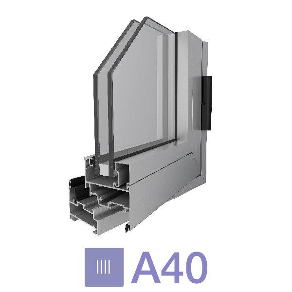 Sistema A40 Paño Fijo  - Aluar
