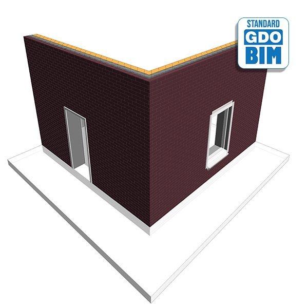 Typische CLT-Wand für Wohnoberge