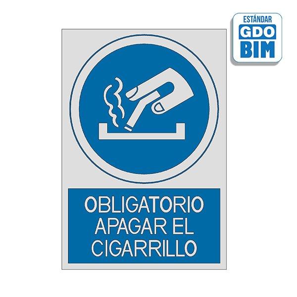 Señal Obligatorio apagar el ciga