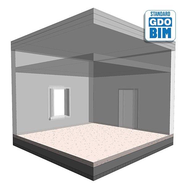 Forsterket betongplate i resepsj