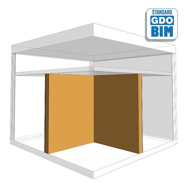CLT-vegg Kontor til toaletter 2