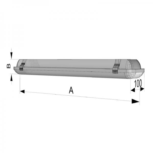 Surface luminaire  SLE-T-LED - D