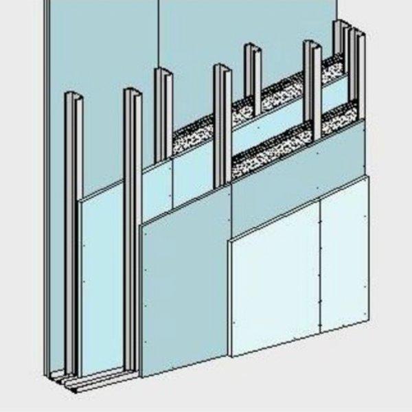 Tabiques con doble estructura y