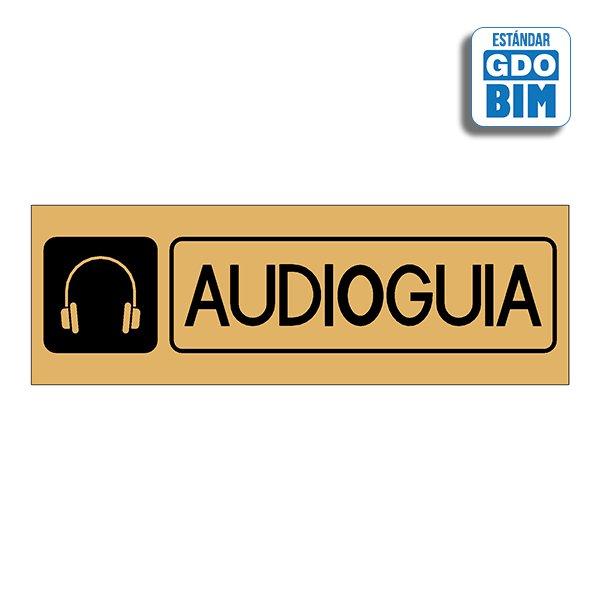 Señal Audioguía Dorada, Plateada
