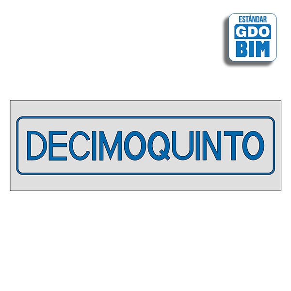 Señal Decimoquinto Dorada, Plate