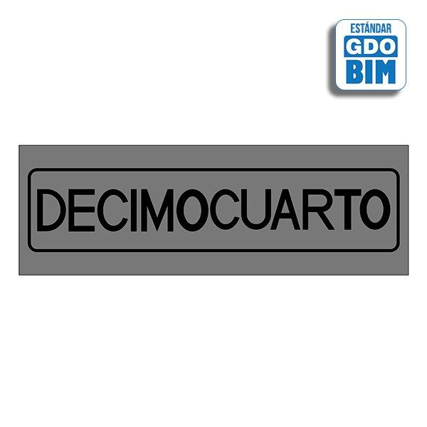 Señal Decimocuarto Dorada, Plate