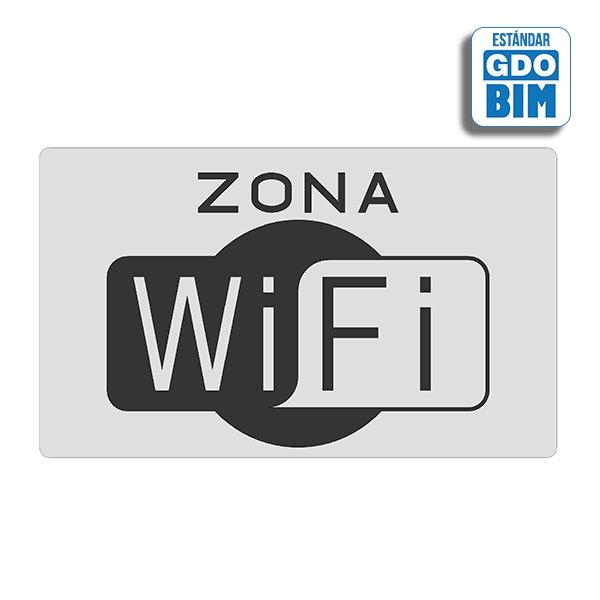 Señal Zona wifi  negra y blanca