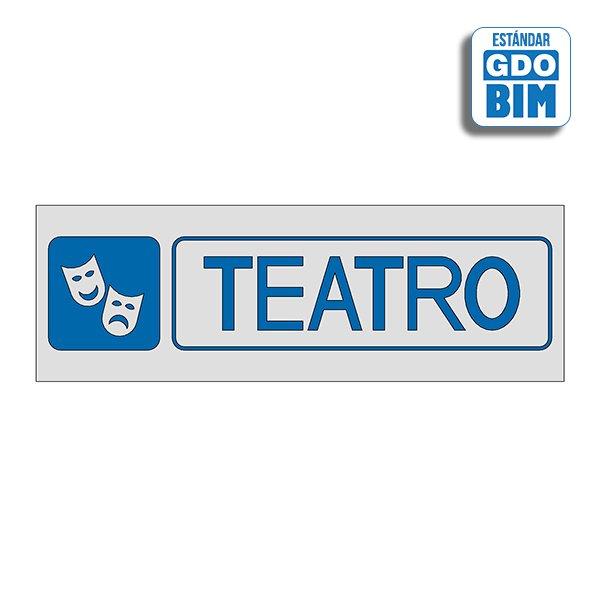 Señal Teatro Dorada, Plateada y