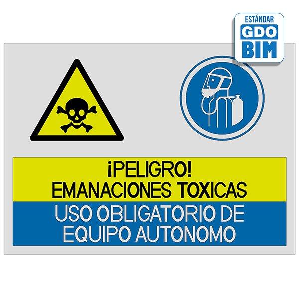 Señal Peligro emanaciones tóxica