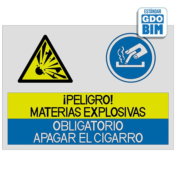 Señal Peligro materias explosiva