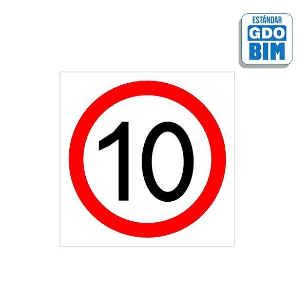 Señal suelo Velocidad 10km/h