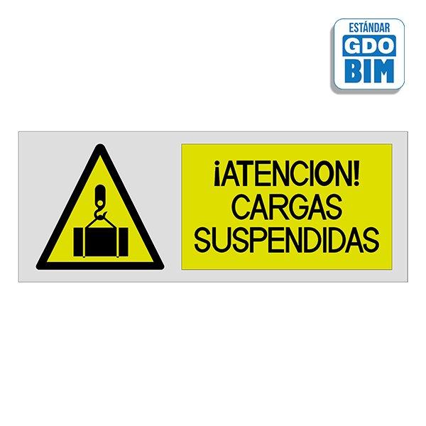Señal Atención Cargas suspendida