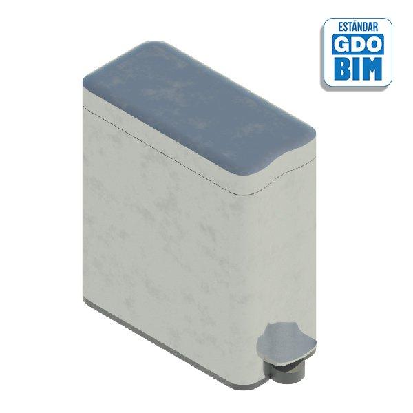 Papelera rectangular metálica 35
