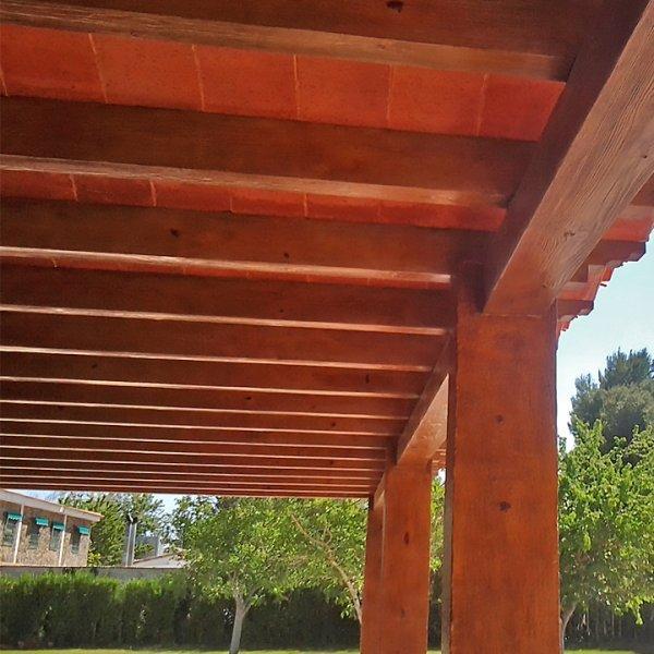 Prestressed concrete beam wood e