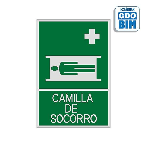 Señal Camilla de socorro