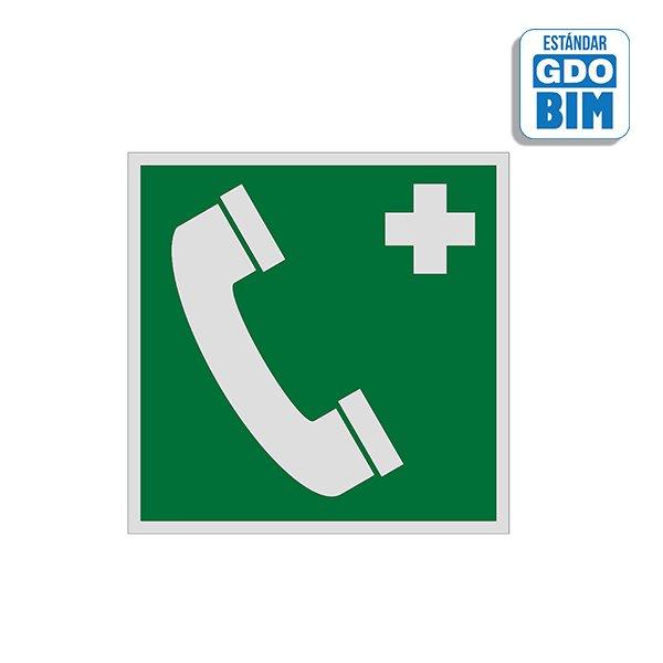 Señal Teléfono de socorro