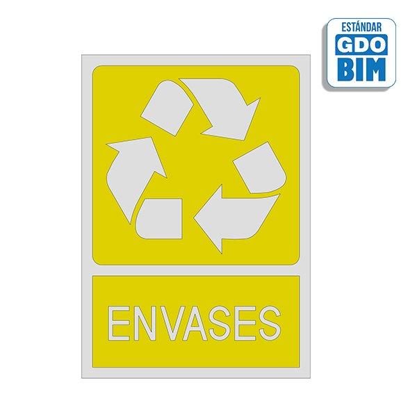 Señal reciclaje envases