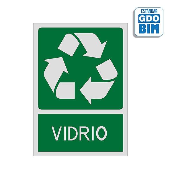 Señal reciclaje vidrio