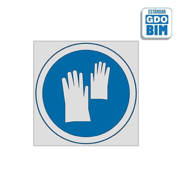Señal Uso de guantes