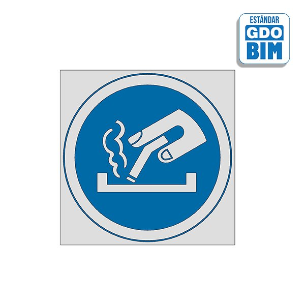Señal Obligatorio apagar cigarri