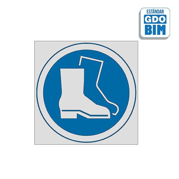 Señal Uso de botas