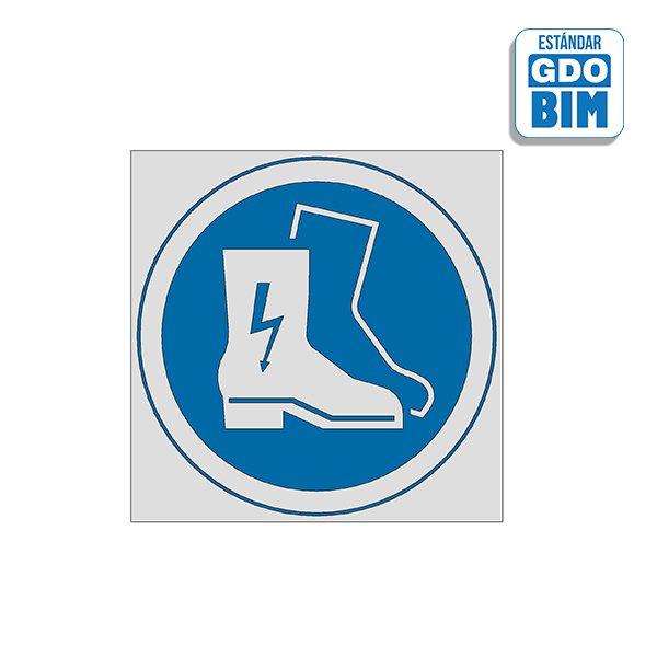 Señal Uso de botas aislantes