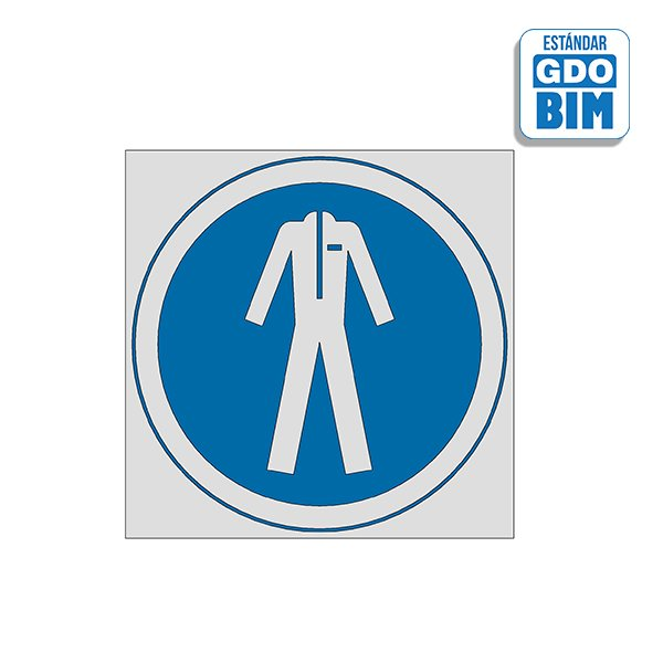 Señal Uso de traje de seguridad