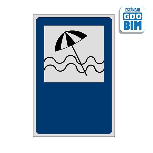 Señal Balneario playa