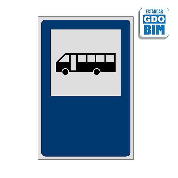 Señal Detención de omnibus