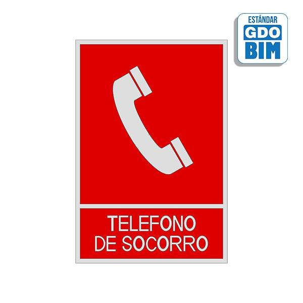 Señal Teléfono socorro