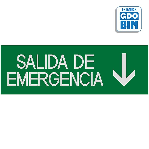 Señal salidas de emergencia abaj