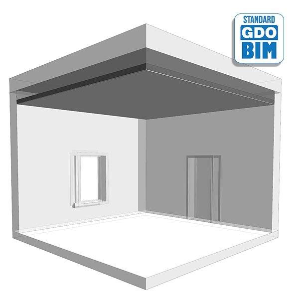 Takrammesystem av metall i bolig