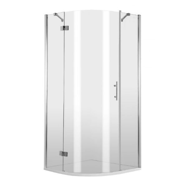 3-glass, semicircular shower cab