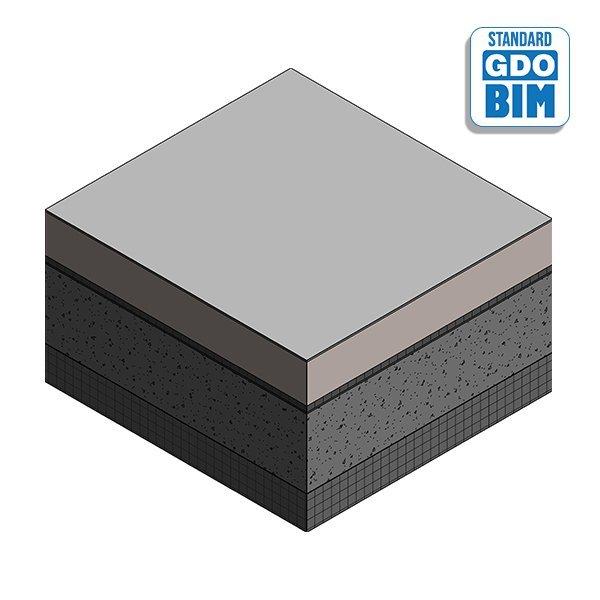 Stahlbetonplatte im Büro 540mm
