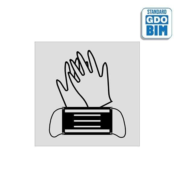 Znak lub oznakowanie w BIM COVID