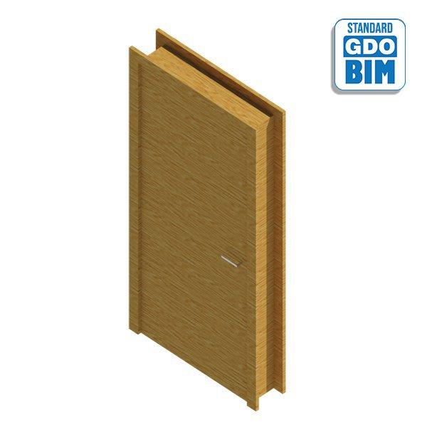 Wooden interior door - 1 leaf