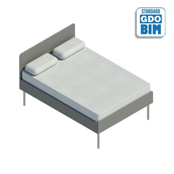 Podwójne łóżko małżeńskie 1440mm