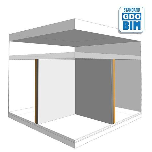 CLT Wand-Obergeschoss-Steigrohr